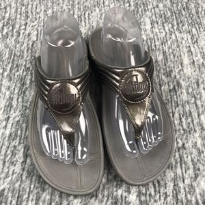 56d362535654 Fitflop Shoes - FitFlop Walkstar 3 Gray Metallic Sandals Size 9